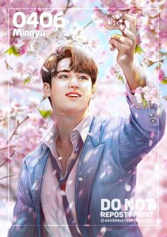 🌸The day that you were born, the day cherry blossom in full bloom 🌸Happy birthday April boy, Mingyu💕✨