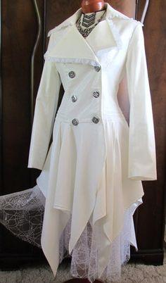 Halloween Costume from Von Lancelot XL White and Lacey Female Pirate Steampunk | eBay