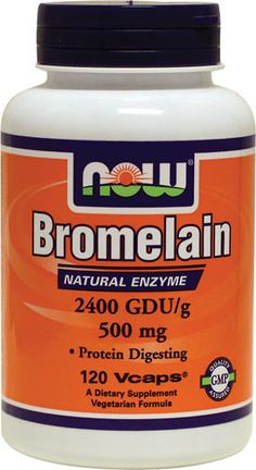 """""""Bromelain hastens the resolution of sinusitis, and shows promise in fighting inflammatory bowel disorders. Preliminary studies suggest that bromelain may even help fight cancer. Experts suggest consuming bromelain between meals to capture its anti-inflammatory benefits. To promote healthy digestive function, take bromelain with meals"""" -LEM. http://www.lef.org/magazine/2008/5/Powerful-Relief-from-Inflammatory-Pain-And-Other-Age-Related-Disorders/Page-01 (Bromelain may be beneficial…"""