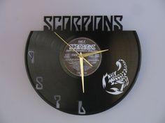 Scorpions clock Scorpions Hard rock heavy metal vinyl by Revinylit
