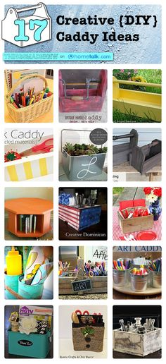 17 {Creative} DIY {Caddy} Ideas | curated by 'Things Made New' blog!