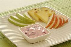 Cranberry Dip with Fresh Fruit - Kidney-Friendly Recipes - DaVita Davita Recipes, Kidney Recipes, Snack Recipes, Snacks, Diet Recipes, Low Potassium Recipes, Low Sodium Recipes, Low Sodium Diabetic Recipe, Renal Diet