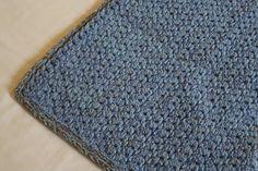"""Купить коврик вязаный прямоугольный """"Голубые Соты"""" - голубой, коврик вязаный, коврик для детской"""