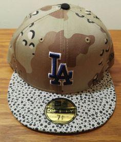 New Era 59Fifty LOS ANGELES DODGERS Baseball MLB Hat Cap Fitted Size CAMO  HOOK  NewEra  LosAngelesDodgers ead4720eb82f