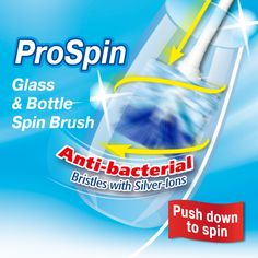 Washing bottles and vases got you into a spin? Introducing the NEW Vileda ProSpin Brush - just push down to activate the 360 degree spinning action for maximum cleaning. Available at Woolworths and online. Cleaning Products, Glass Bottles, Spinning, Vases, You Got This, Action, Tools, Hand Spinning, Group Action