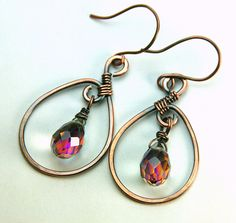 Another great way to showcase stunning beads. Copper Wrapped and Glass Prism
