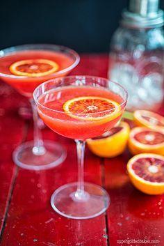 The amazing technicolour cocktail: Blood orange Cosmopolitan | Supergolden Bakes