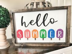 Summer | Hello Summer | Wood Signs | Signs | Summer Decor | Summer Signs | Signs for home | Farmhous