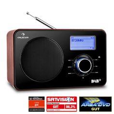 Auna Digidab Retro DAB / DAB + Radio Digital portabil AM / FM PLL ceas: Click pentru imagine mărită!