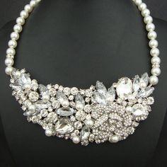 Bridal bib necklace