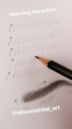 Augenbrauen # # Eyebrows # # How to fix eyebrows tutorNew makeup eyebrows MUST eyebrow tutor Pencil Art Drawings, Art Drawings Sketches, Cute Drawings, Horse Drawings, Art Illustrations, Animal Drawings, Drawing Techniques, Drawing Tips, Drawing Drawing