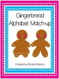 Gingerbread Alphabet Match $