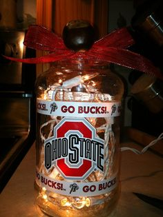 Lighted Ohio State Jar by tete24 on Etsy, $15.00