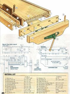 Workbench Plans - Workshop Solutions Projects, Tips and Tricks Workbench Plans - Workshop Solutions Projects, Tips and Tricks Woodworking Workbench, Woodworking Workshop, Woodworking Crafts, Building A Workbench, Workbench Plans, Workbench Vice, Diy Wooden Projects, Wooden Diy, Build Your Own Garage