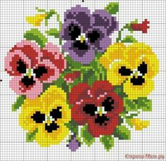 ~ multiple pansies for peg board (or cross stitch). ~ multiple pansies for peg board (or cross stitch). Cross Stitch Rose, Simple Cross Stitch, Cross Stitch Flowers, Cross Stitching, Cross Stitch Embroidery, Embroidery Patterns, Hand Embroidery, Cross Stitch Designs, Cross Stitch Patterns