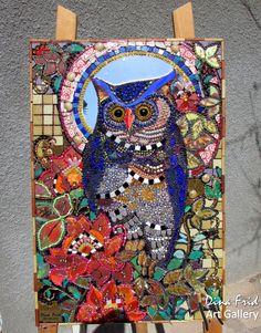 Hobby_Li: Мозаичное панно СОВУШКА
