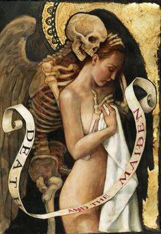 "templeofapelles: "" P.J. Lynch Death and the Maiden "" http://www.vantiques.nl"
