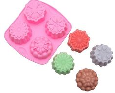 ALVA 4 even silicone cake mold flowers Pudding jelly mould soap mold 5pcsno.CM68 ** To view further, visit now : Bakeware Sets