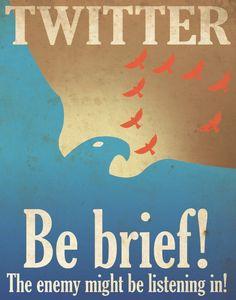 Twitter、Facebook、Google+のプロパガンダ風ポスター - DNA