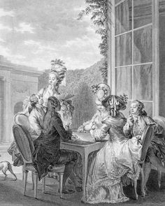 The Whist Party, 1783, engraved by Jean Dambrun, by Jean Michel Moreau, the Younger.
