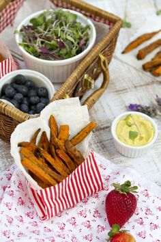 Indian Spiced Sweet Potato Fries with Curry Aioli // FamilyFreshCooking.com