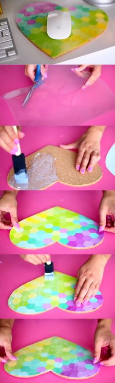 Heart Mouse Pad Part 2|LaurDIY