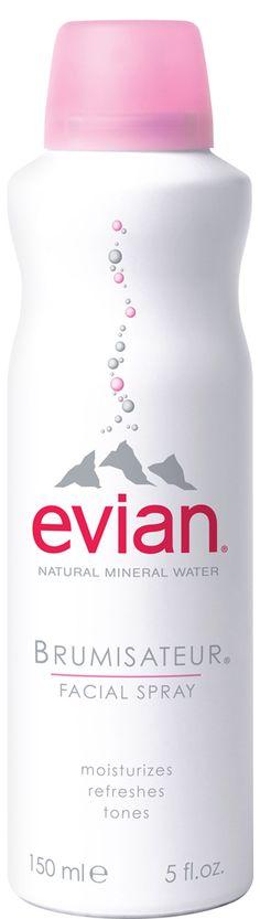 Evian Water Facial Spray Natural Mineral Water, Natural Spring Water, Evian Facial Spray, Laneige Water Sleeping Mask, Water Spray, Setting Spray, Beauty Supply, Skin Care Regimen, Makeup