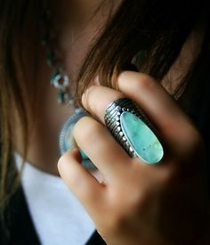 Reserved The Absolute Shape of Water by MercuryOrchid on Etsy, $235.00 SIMPLY STUNNING (love rings which 'make a statement!!') - BEAUTIFUL!!