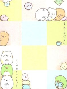 Sumikkogurashi animal in corner squares mini Note Pad 3