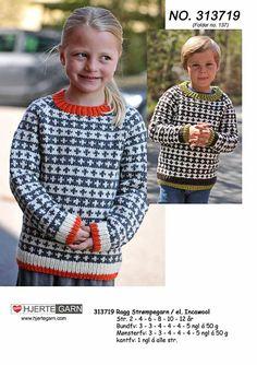 Børnesweater med raglanærmer og mønster fra Hjertegarn - 313719