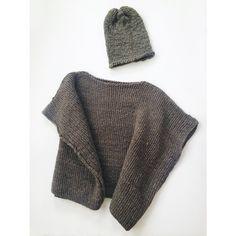 cozy knit ponchos and hats by Josi Faye