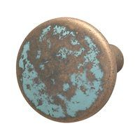 Hafele 123.27.032 Traditional Zinc Knob, Rustic Copper