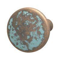 Hafele 123.27.032 Traditional Zinc Knob, Rustic Copper