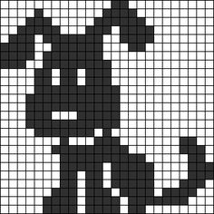 Made Pattern: Puppy filet crochet baby blanket. Baby Knitting Patterns, Crochet Patterns Filet, Knitting Charts, Crochet Chart, Filet Crochet, Knitting Stitches, Knitting Wool, Fair Isle Knitting, Cross Stitch Charts