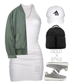 YUNGIN. by goldxstyle on Polyvore featuring polyvore, fashion, style, DRKSHDW, adidas Originals and clothing