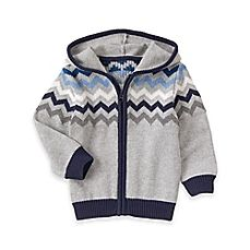 image of Gymboree® Chevron Sweater Hoodie in Grey