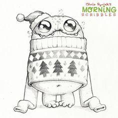 makes monsters and stuff Cartoon Kunst, Cartoon Drawings, Cartoon Art, Animal Drawings, Pencil Drawings, Doodle Monster, Monster Drawing, Monster Art, Cute Monsters Drawings