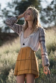 A classic bohemian look that we are absolutely lovin!