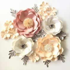 "166 Likes, 14 Comments - ✂️✂️paper flower templates (@paperprotutorials) on Instagram: ""Our Wild Rose flower template allow you to create flower in different sizes (just play around…"""