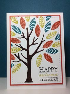 Mighty Oak: PTI, fall, by beesmom - Cards and Paper Crafts at Splitcoaststampers