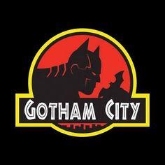 gotham city, Jurassic Park syle, by Alexander Sornoso Batwoman, Batgirl, Nightwing, Gotham City, Batman Shirt, Im Batman, Batman Stuff, Batman Poster, Batman Artwork