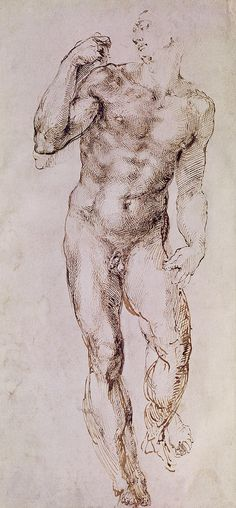 Sketch Of David With His Sling- Michelangelo