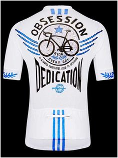 """Bike Obsession"" men's cycling jersey from Cycology. Have you ever had people say you have an 'Obsession' with cycling, training, bikes, bike parts, bike races?  Call it 'Obsession', call it 'Dedication', call it 'Passion'. We understand!"