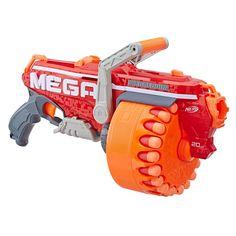 Hasbro Nerf Megalodon N-Strike Mega Toy Blaster with 20 Official Nerf mega Whistler Darts Newest Nerf Guns, Big Nerf Guns, Pistola Nerf, Nerf Darts, Nerf Toys, Diys, Pokemon, Workout Exercises, Tricot