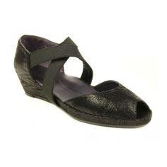 VANELi Darma Black Print Casual Dress Sandals Shoe