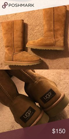 NEW Classic Tall Authentic Ugg Boots Classic Tall Authentic Chestnut Uggs. Perfect condition. These were only worn ONCE! Literally brand new!! UGG Shoes Winter & Rain Boots