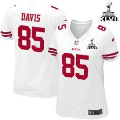 NFL NIKE San Francisco 49ers http://#85 Vernon Davis White Womens Elite Jersey$109.99