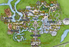 Walt Disney World, Magic Kingdom, Character Locations, Map