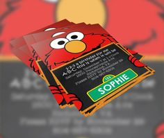 Elmo Sesame Street Inspired Birthday by KennethQuadeDesigns