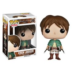 """This Funko Pop! Vinyl figure of Eren Jaeger features the lead character in the popular series Attack on Titan as a 3 3/4 inch chibi style figure. He holds a personal grudge against all Titans and aims to kill them so that he can explore beyond the confinement of his homeland. """"I'll kill them all, every last one, to break free of these walls."""" -Eren Jaeger, Attack on Titan #nesteduniverse"""